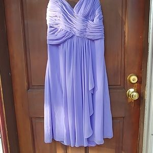 Lilac Bridesmaid Formal Strapless Dress Sz 10